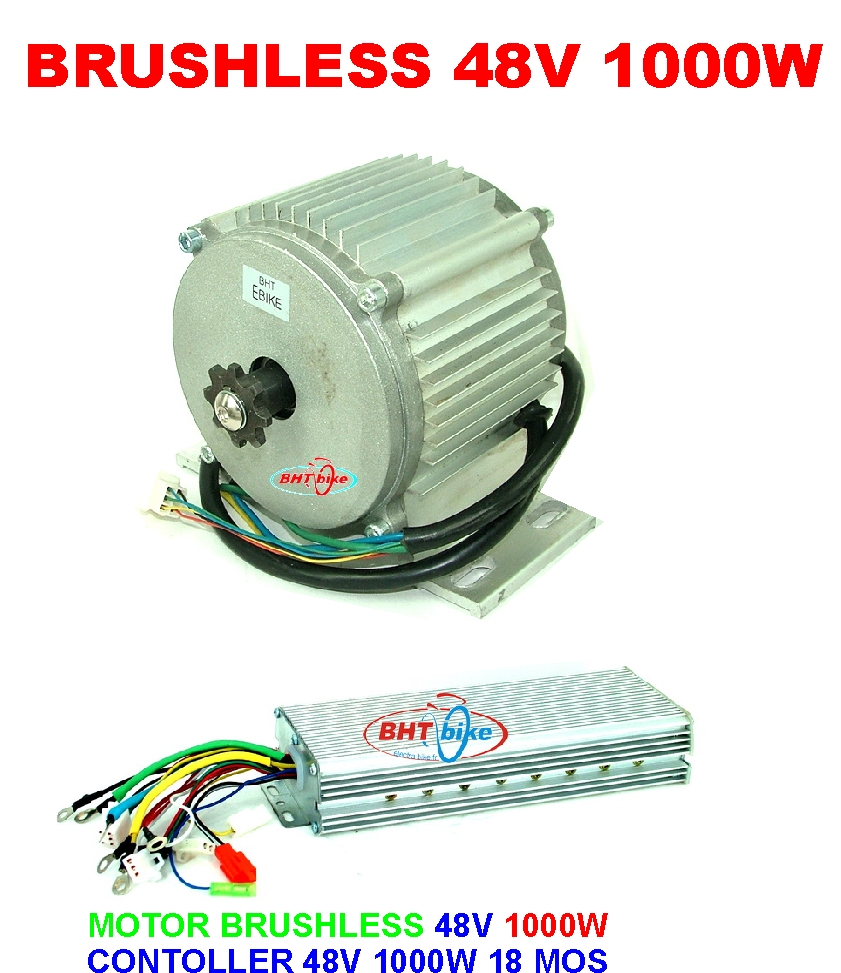 Pd750 Electric Motor Kit: KIT ELECTRIC MID DRIVE MOTOR BRUSHLESS 48V 1000W QUAD CAR