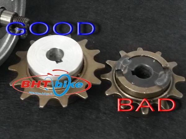 Freewheel sprocket adapter for my1016 motor aluminum cnc for Freewheel sprocket for electric motor